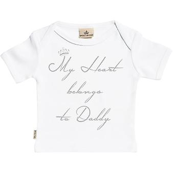 Spoilt Rotten My Heart Belongs To Daddy Short Sleeve Baby T-Shirt