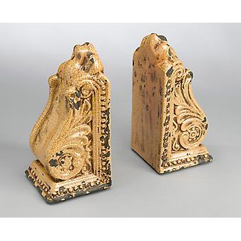 AA Importing 10825-yl Yellow Bookend Pair