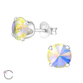 Tour cristal 6mm de Swarovski® - 925 clous d'oreilles en argent Sterling - W35037X
