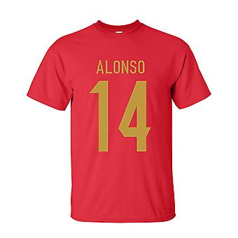 Xabi Alonso Spain Hero T-shirt (red)