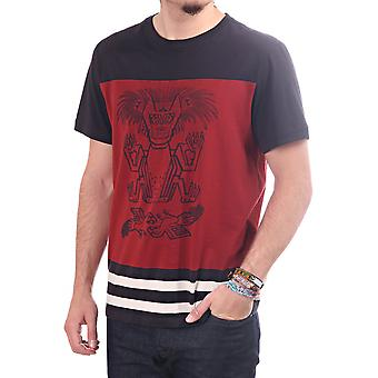Paul Smith Jeans Ss Slim Fit Tshirt With Tribal Print