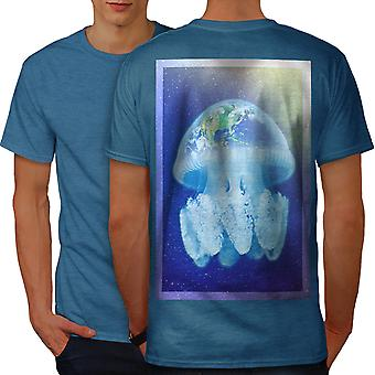Nature Fish Space Men Royal BlueT-shirt Back | Wellcoda