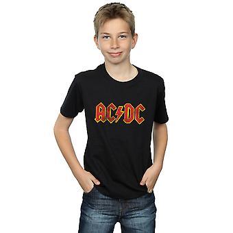 AC/DC 少年不良赤ロゴ t シャツ