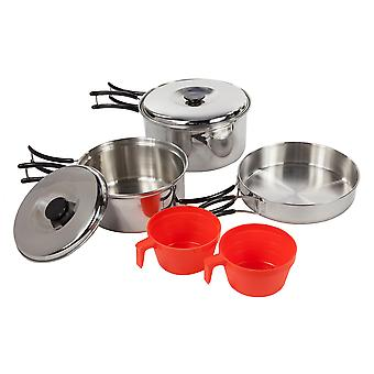 Regatta Great Outdoors Compact Steel Camping Cooking Set