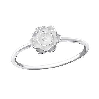 Flower - 925 Sterling Silver Plain Rings - W36162x