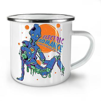 Electric Romance Funy NEW WhiteTea Coffee Enamel Mug10 oz | Wellcoda