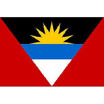 Antigua & Barbudan lippu 5 jalkaa x 3 ft jossa ripustamista varten