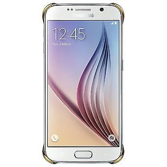 Original bulk Samsung EF-QG920BFE clear transparent cover for Galaxy S6 - gold
