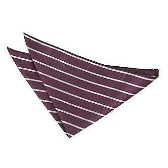 Fazzoletto da taschino viola e argento singola striscia