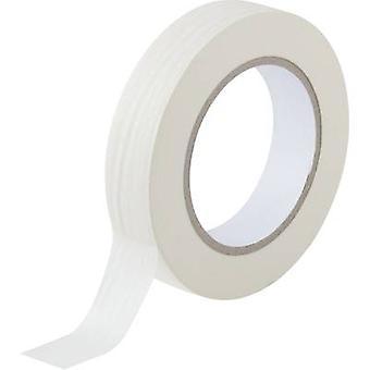 TOOLCRAFT 93038c188 Masking tape White (L x W) 50 m x 25 mm 1 Rolls