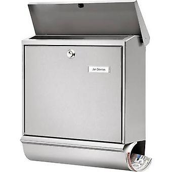 Burg Wächter 32680 COMFORT-Set 39130 NI Letterbox Stainless steel Silver Key