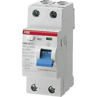 ABB 2CSF202101R1250 RCCB A 2-napainen 25 A 0,03 A 230 V