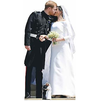 Prince Harry et Meghan Markle Royal Wedding First Kiss Carton Découpe / Standee