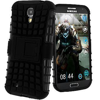 Caso di supporto antiurto, Backcover per Samsung Galaxy S4 & cavalletto - nero