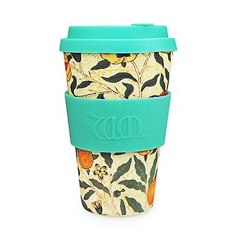Ecoffee Cup & William Morris Pomme met Turquoise siliconen 14oz
