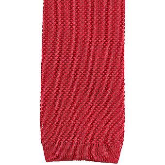 KJ Beckett llano algodón Tie - rojo