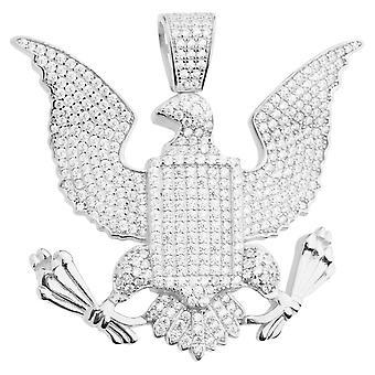 Prémio Bling 925 grande selo águia pendente da prata esterlina