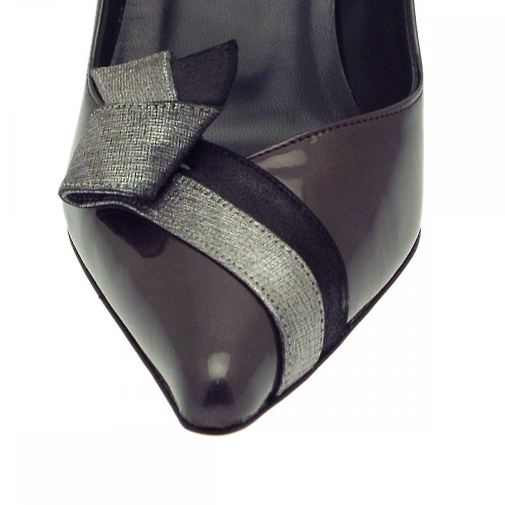 Renata grå Patent høy hæl domstol sko