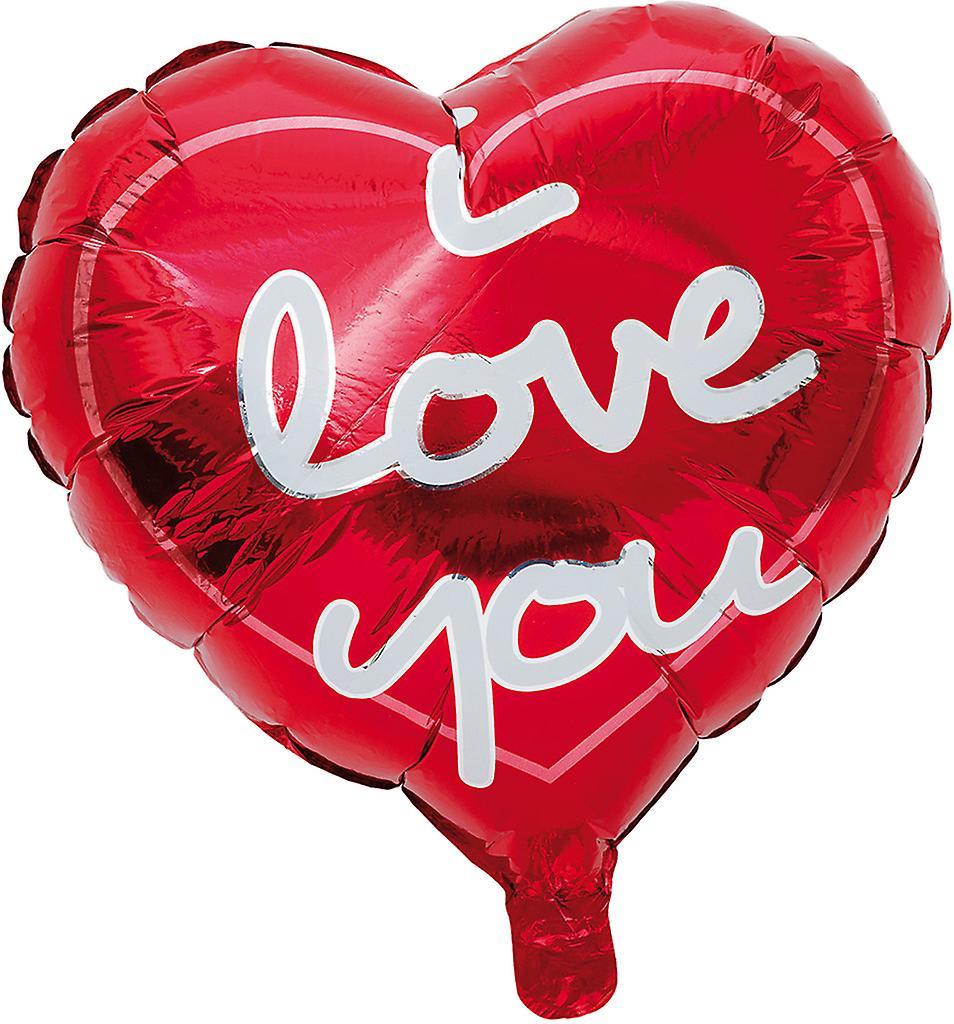 Hjärtformad ballong med texten