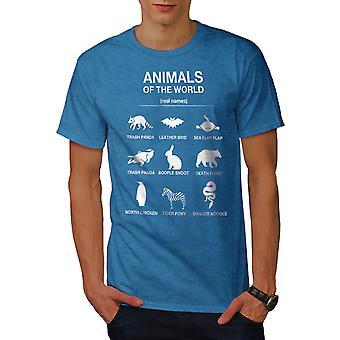 Animals Funy Cute Men Royal BlueT-shirt   Wellcoda