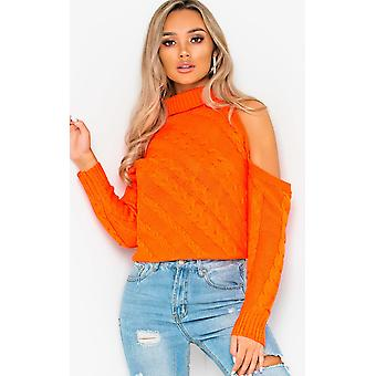 IKRUSH Womens Yasmin Knitted Cut Out Jumper