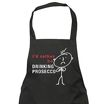 Mens I'd Rather Be Drinking Prosecco Black Apron