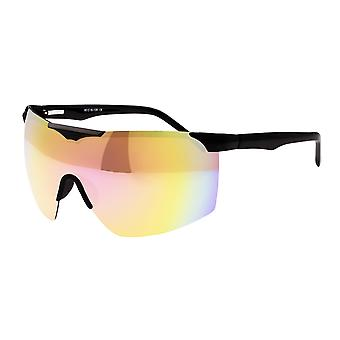Sixty One Shore Polarized Sunglasses - Black/Red-Rainbow