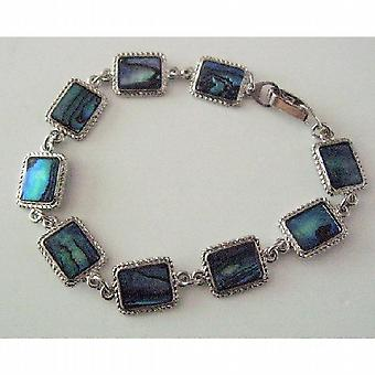 Rectangular pulsera w / Abalone Shell regalo asequible