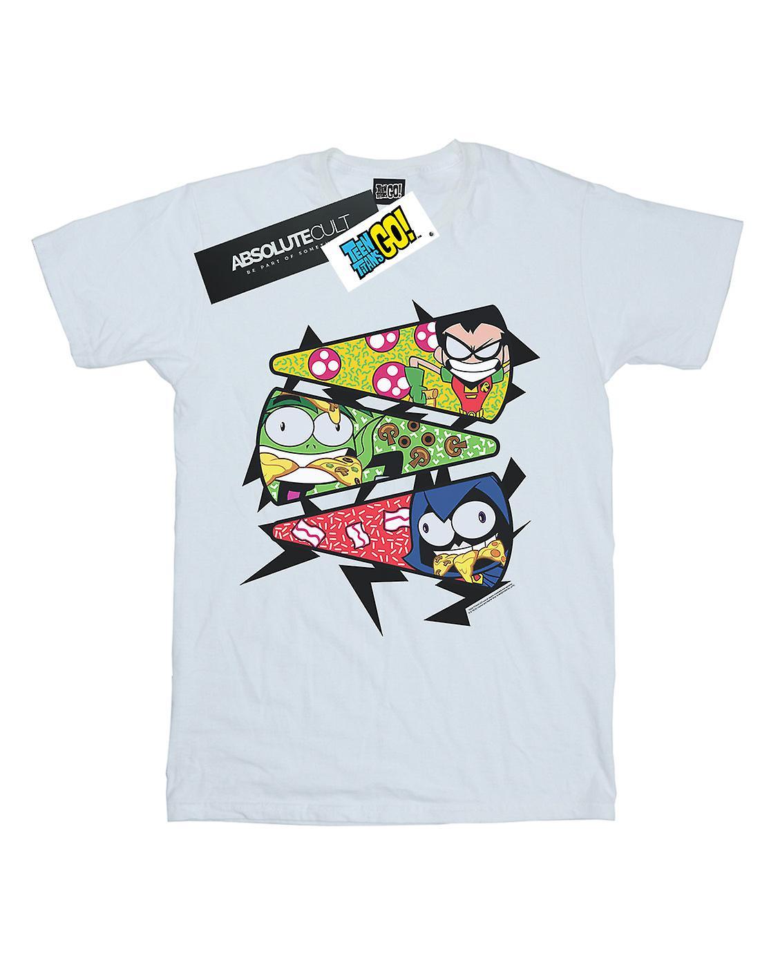 DC Comics Women's Teen Titans Go Pizza Slice Boyfriend Fit T-Shirt