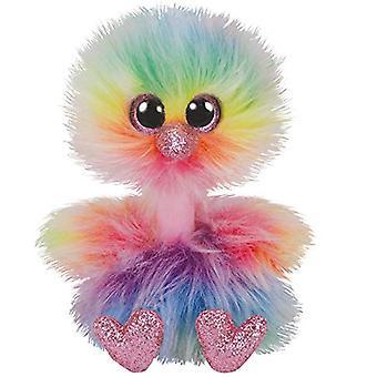 TY Beanie Buddy Asha Pastel Ostrich - Medium