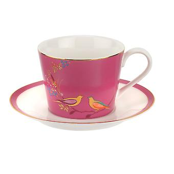 Sara Miller Chelsea Cup and Saucer, Pink