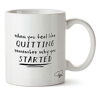 Hippowarehouse, когда вы чувствуете, как бросить курить, помните, почему вы начали печатных кружка чашка керамическая 10 oz