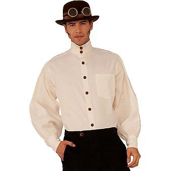 Steampunk stijl Beige Shirt