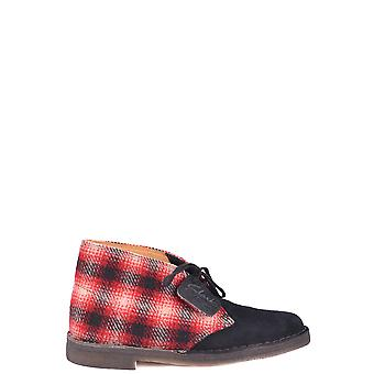 Clarks Ezbc095027 Donne's Red Suede Stivali alla caviglia