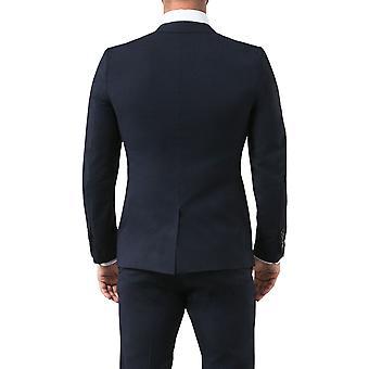Avail London Mens Navy Suit Jacket Slim Fit Notch Lapel