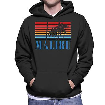 Malibu Retro jaren 70 zonsondergang mannen Hooded Sweatshirt