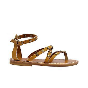 K.jacques Epicurepyrpulnaturel Women's Brown Leather Sandals