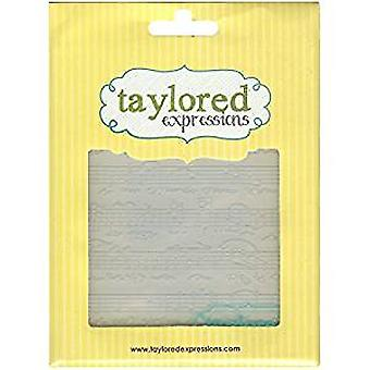 Taylored Expressions Sheet Music Embossing Folder