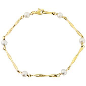 Mark Milton Pearl Fancy Link Bracelet - Yellow Gold