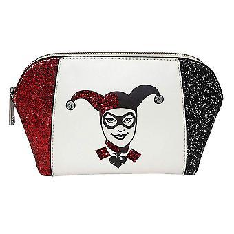 DC Comics Harley Quinn Glitter Wash Bag