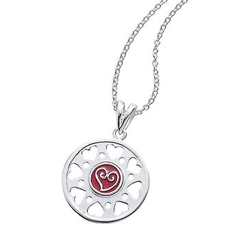 KAMELEON JewelPop Round with 8 Open Hearts Silver Pendant KP76