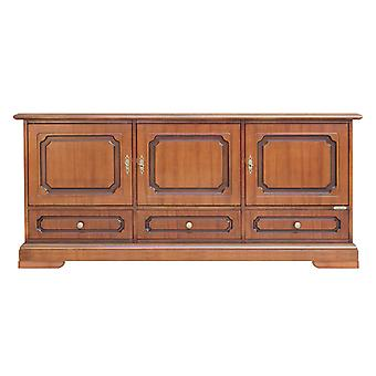 Low cabinet with 3 doors and 3 drawers