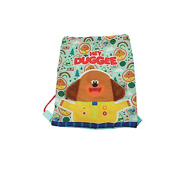 Hey Duggee Plush Ears Drawstring Sports Trainer Bag Green