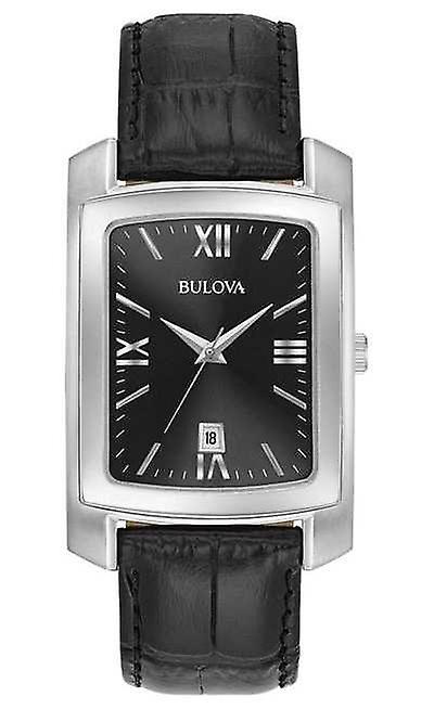Bulova Classic Mens Rectangular Black Strap 96B269 Watch