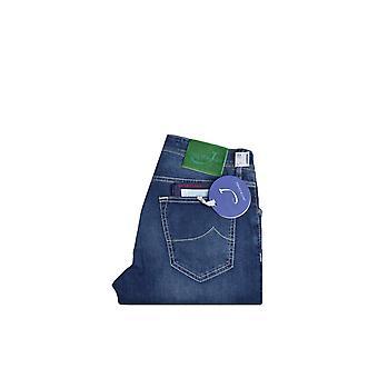 Jacob Cohen J622 Slim Fit Jeans Mid Blue Denim Wash