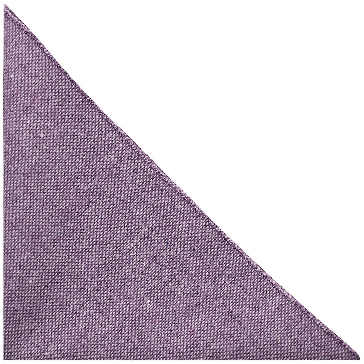 Highland Weave Stonewashed Purple Pocket Square, Handkerchief