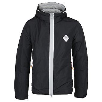 Barbour Beacon Contrast Zip Black & Grey Hooded Jacket