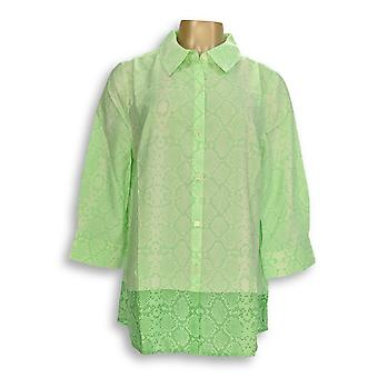 Isaac Mizrahi Live! Donne&s Top Snake stampa bloccata A262833