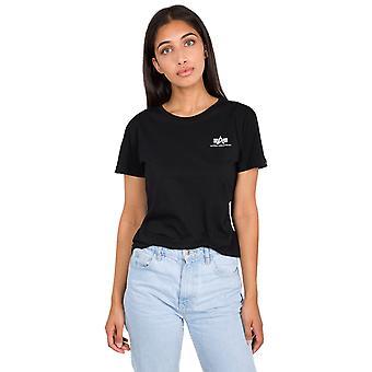 Ομάδα Άλφα γυναικεία T-shirt βασικό μικρό λογότυπο