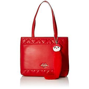 الحب موسكينو حقيبة نابا بو Tote دونا (الأحمر) 27x10x34 سم (W x H x L)